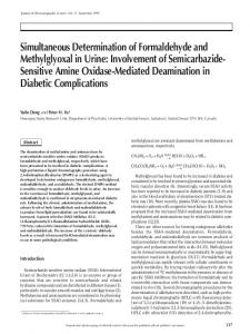 Simultaneous Determination of Formaldehyde and Methylglyoxal in ...