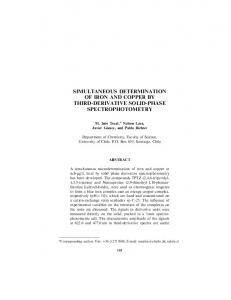 simultaneous determination of iron and copper by third-derivative solid