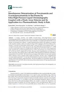 Simultaneous Determination of Procainamide and N ... - MDPI