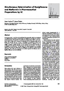 Simultaneous Determination of Rosiglitazone and Metformin in ...