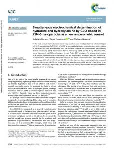 Simultaneous electrochemical determination of