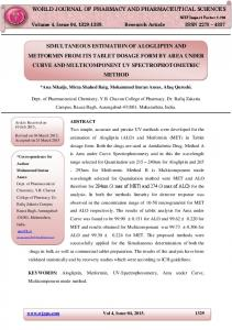 simultaneous estimation of alogliptin and metformin from its ... - wjpps