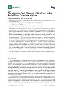 Simultaneous-Fault Diagnosis of Gearboxes Using ... - Semantic Scholar