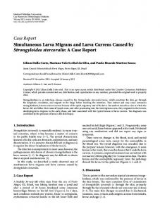 Simultaneous Larva Migrans and Larva Currens Caused by