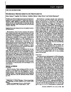 Simultaneous Macroamylasemia and ... - Clinical Chemistry