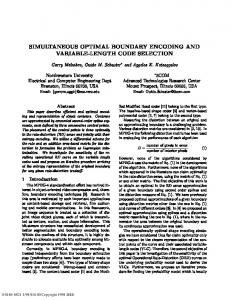 simultaneous optimal boundary encoding and variable-length code ...