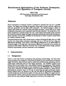 Simultaneous Optimization of the Airframe, Powerplant, and Operation ...