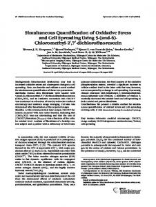 Simultaneous quantification of oxidative stress and cell spreading ...