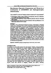 Simultaneous Removal of Ammonium and Nitrate by a ... - J-Stage