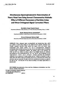 Simultaneous Spectrophotometric Determination of Heavy Metal Ions ...