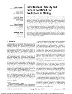 Simultaneous Stability and Surface Location Error Predictions in Milling