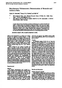 Simultaneous Voltammetric Determination of Bromide and Iodide in ...