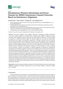 Simultaneous Wireless Information and Power ... - Semantic Scholar