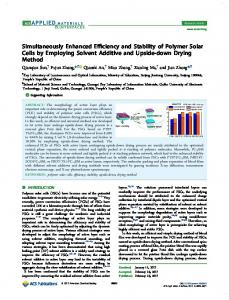 Simultaneously Enhanced Efficiency and Stability ... - ACS Publications