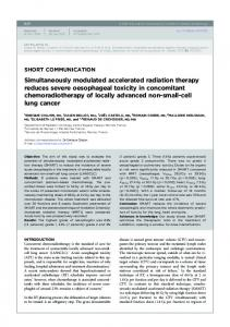 Simultaneously modulated accelerated radiation ... - BIR Publications
