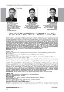 singaporean demand for tourism in malaysia