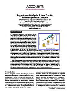 Single-Atom Catalysts: A New Frontier in Heterogeneous Catalysis
