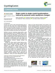 Single crystal-to-single crystal transformations ...