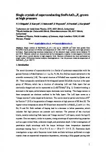 Single crystals of superconducting SmFeAsO1-xFy grown at ... - arXiv