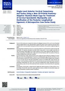 Single-Level Anterior Cervical Corpectomy and