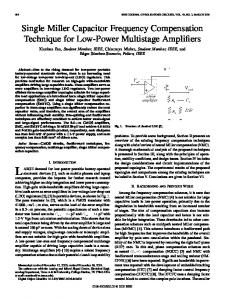 Single Miller Capacitor Frequency Compensation ... - IEEE Xplore