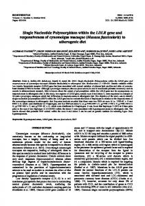 Single Nucleotide Polymorphism within the LDLR gene ... - Biodiversitas