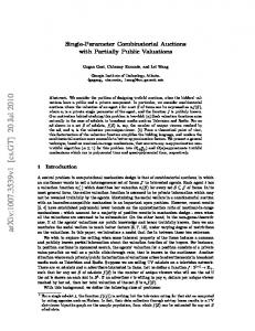 Single-Parameter Combinatorial Auctions with Partially Public ...