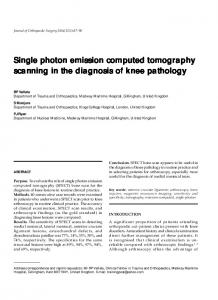 Single photon emission computed tomography ... - Semantic Scholar