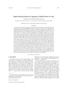 Single-Scattering Properties of Aggregates of Bullet ... - AMS Journals