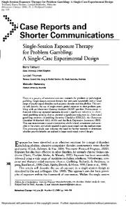 Single-Session Exposure Therapy for Problem Gambling: A Single ...