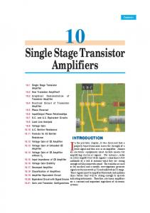 Single Stage Transistor Amplifiers - Talking Electronics