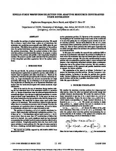 Single-Stage Waveform Selection For Adaptive ... - EECS @ Michigan