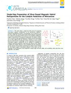 Single-Step Preparation of Silver-Doped Magnetic ... - ACS Publications