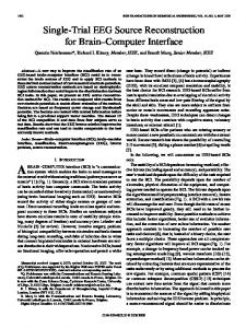 Single-Trial EEG Source Reconstruction for Brain ... - Semantic Scholar