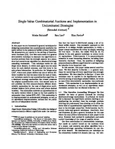 Single-Value Combinatorial Auctions and Implementation ... - Microsoft