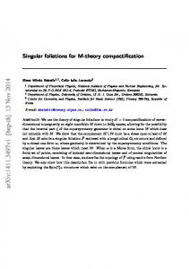 Singular foliations for M-theory compactification