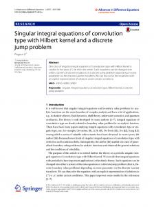 Singular integral equations of convolution type