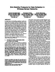 Sink Mobility Protocols for Data Collection in Wireless Sensor ... - CEID