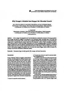 SiO2 Xerogel: A Suitable Inert Support for Microbial ... - Springer Link