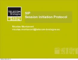 SIP: Session Initiation Protocol (PDF Download Available)
