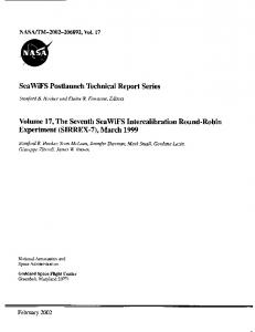 SIRREX-7 - NASA Technical Reports Server (NTRS)