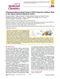 SIRT2 - ACS Publications - American Chemical Society