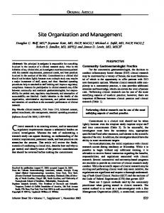 Site organization and management - Wiley Online Library