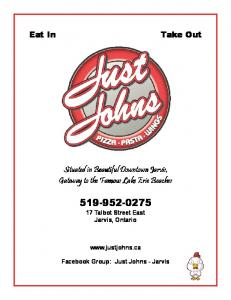 Situated in Beautiful Downtown Jarvis, Situated in ... - Just John's