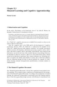 Situated Learning and Cognitive Apprenticeship - Springer Link
