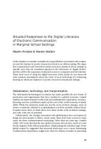 Situated Responses to the Digital Literacies of Electronic ... - CiteSeerX
