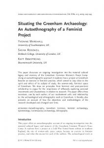 Situating the Greenham Archaeology: An Autoethnography of a ... - Core