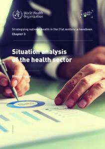 Situation analysis of the health sector - World Health Organization