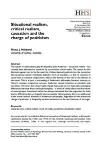 Situational realism, critical realism, causation and the ... - SAGE Journals