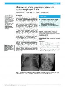 Situs inversus totalis, oesophageal atresia and tracheo ...